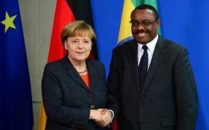 Primer Ministro Hailemariam con Angela Merkel Canciller Alemana